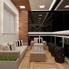 Balcón de estilo  por CaPra Arquitetura e Interiores, Moderno