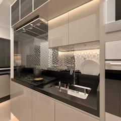 Cozinha_Apartamento Angélica e Renato por CaPra Arquitetura e Interiores Moderno MDF