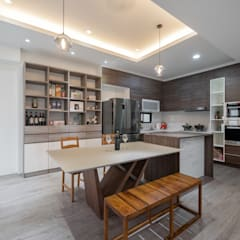 وحدات مطبخ تنفيذ 藏私系統傢俱,