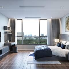 LỰA CHỌN THIẾT KẾ HIỆN ĐẠI VÀ MỚI MẺ NHƯ CĂN HỘ C3 VINHOMES:  Phòng ngủ by ICON INTERIOR,
