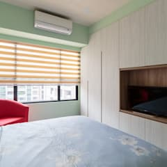 CHIU House‧GIGA巨蛋核心城:  牆面 by 元作空間設計
