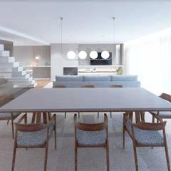 Moradia Lavra: Salas de jantar  por MIA arquitetos,Moderno