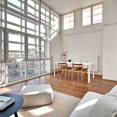Verkoopstyling Amsterdam The Green House:  Woonkamer door THE GREEN HOUSE Home staging