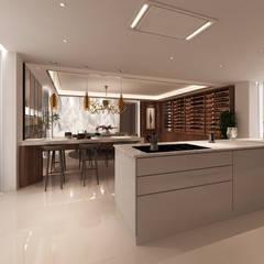 Projecto 3D -Cozinha e Sala de Jantar - Braga: Cozinhas  por Alpha Details