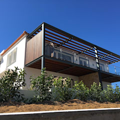 RSV Arquitetos Associados의  테라스 주택, 컨트리 철 / 철강
