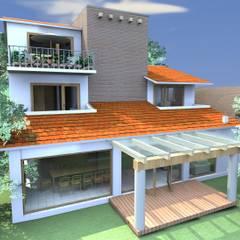 Naucalpan : Casas multifamiliares de estilo  por A+P Arquitectos, El arte de crear espacios