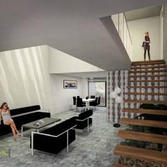 Tangga oleh Helicoide Estudio de Arquitectura, Modern Kayu Wood effect