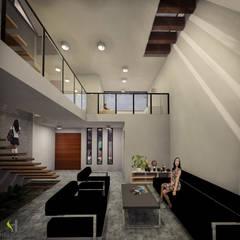 Casa B-40: Salas de estilo  por Helicoide Estudio de Arquitectura, Moderno