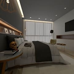Bedroom by lado[6]arq, Eclectic Iron/Steel