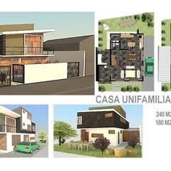Casa Recreo: Casas unifamiliares de estilo  por PG + Arq