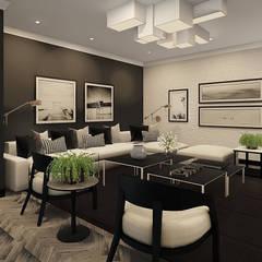 Sandton Penthouse Interior Design & Architecture:  Living room by CKW Lifestyle Associates PTY Ltd