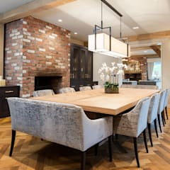 Photography for Interior Designers - Enchanted Barn - 2019:  Dining room by Miriam Sheridan Photography, Modern Wood Wood effect