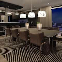 Sandton Penthouse Interior Design & Architecture:  Dining room by CKW Lifestyle Associates PTY Ltd