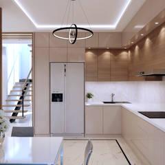 Современная кухня в частном доме: Встроенные кухни в . Автор – Творческая мастерская Твердый Знак,