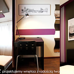 Mieszkanie na Os. Europejskim.: styl , w kategorii Małe sypialnie zaprojektowany przez MAXDESIGNER,