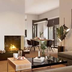 Дизайн інтер'єру будинку в стилі мінімалізм:  Вітальня by Марина Янченкова