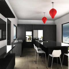 Casa AR: Cocinas equipadas de estilo  por Tekne