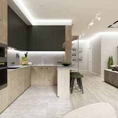 Built-in kitchens by Дизайн-студия 'New Walls Design'