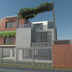 Mr.Madhu Maddi residence:  Houses by The Yellow Ink Studio