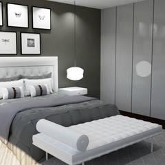 ห้องนอนขนาดเล็ก by Nkantus Interior Design