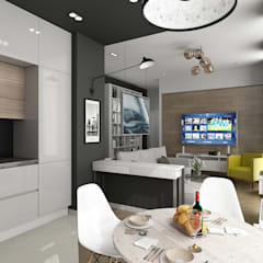 Квартира : Встроенные кухни в . Автор – IceDesign,