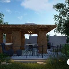 TERRAZA LOMA DORADA : Casas de campo de estilo  por T+F Arquitectos