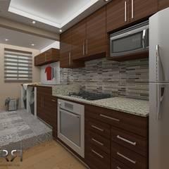 Remodelación Zona Río : Cocinas pequeñas de estilo  por FR arquitectos