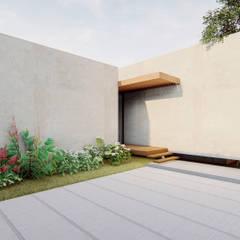 Axis House: Garajes y galpones de estilo  por DOGMA Architecture, Moderno Concreto