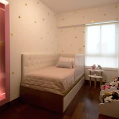 Dormitorio infantil en San Isidro: Cuartos para niñas de estilo  por Velú Studio