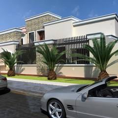 Sonora : Casas multifamiliares de estilo  por OLLIN ARQUITECTURA
