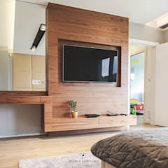 Błonie 1 Nowoczesna sypialnia od Patryk Kowalski Architektura i projektowanie wnętrz Nowoczesny