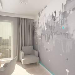 Marywiska: styl , w kategorii Pokój multimedialny zaprojektowany przez Patryk Kowalski Architektura i projektowanie wnętrz