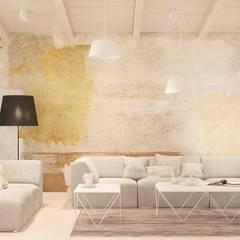 Olszewnica Stara: styl , w kategorii Salon zaprojektowany przez Patryk Kowalski Architektura i projektowanie wnętrz