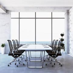 Diseño de sala de juntas: Estudios y oficinas de estilo  por Rhombus arquitectos