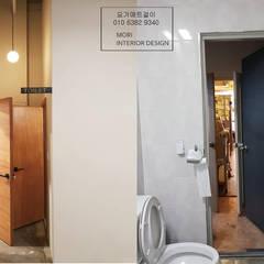 카페화장실리모델링: 디자인모리의  욕실,러스틱 (Rustic)