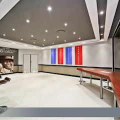 Before  & After - Interior Upgrade of The National Research Foundation, Pretoria :  Office buildings by Nuclei Lifestyle Design, Modern