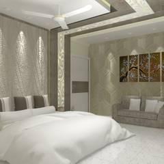 Projekty,  Sypialnia zaprojektowane przez Jamali interiors