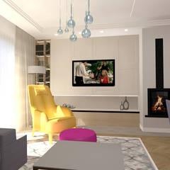 Z klasyczną nutą.: styl , w kategorii Salon zaprojektowany przez Studio Vermilion Anna Cisło