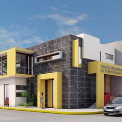 Passive house by TM+2 arquitectos, Minimalist Concrete