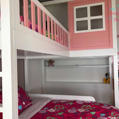 Girls Bedroom by Happy Kids Muebles, Mediterranean Solid Wood Multicolored