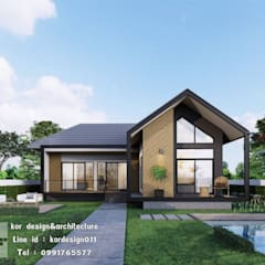 งานออกแบบบ้านชั้นเดียว รหัส MD1-005:  บ้านเดี่ยว โดย Kor Design&Architecture,