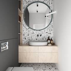 WARSZAWA WILANÓW/ DOM/ 200M2 Minimalistyczna łazienka od TILLA Minimalistyczny
