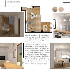مطبخ ذو قطع مدمجة تنفيذ Design for Love , تبسيطي