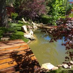 Garden Pond by Jardines Japoneses -- Estudio de Paisajismo