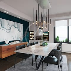 Modern Contemporary Apartment Interior Design:  Dining room by Comelite Architecture, Structure and Interior Design , Modern