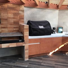 Fabricación de mobiliario para Quincho en Santiago: Terrazas  de estilo  por AUTANA arquitectos