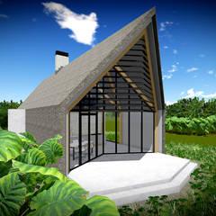 Rietgedekte Schuurwoning :  Buitenhuis door Zein Architecten Adviseurs