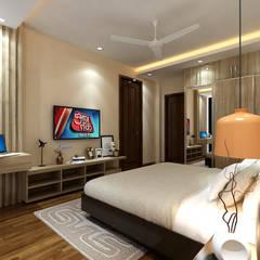 Dormitorios pequeños de estilo  por Matter Of Space Pvt. Ltd.