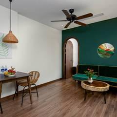 Tropical style houses by công ty cổ phần kiến trúc - nội thât L & W Tropical