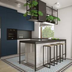Cocinas de estilo  por Nevi Studio, Industrial